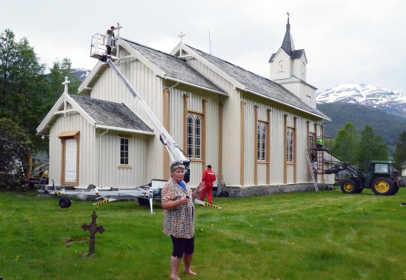 Kjempefint,, -og så fort, var kommentarane til Ildri S. Øyen.  Foto: Jon Olav Ørsal