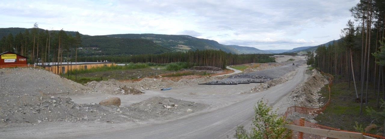 Ny E6 går rett forbi hjørnet på Talgølageret på Vinstra.  Foto: Jon Olav Ørsal