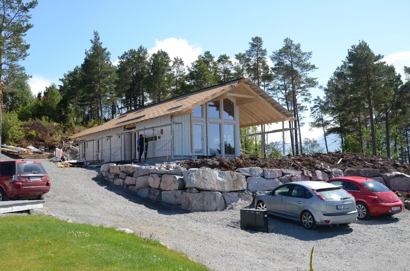 Taktekkkjinga snart ferdig - klart for innreiingsarbeidet.  Foto: Jon Olav Ørsal