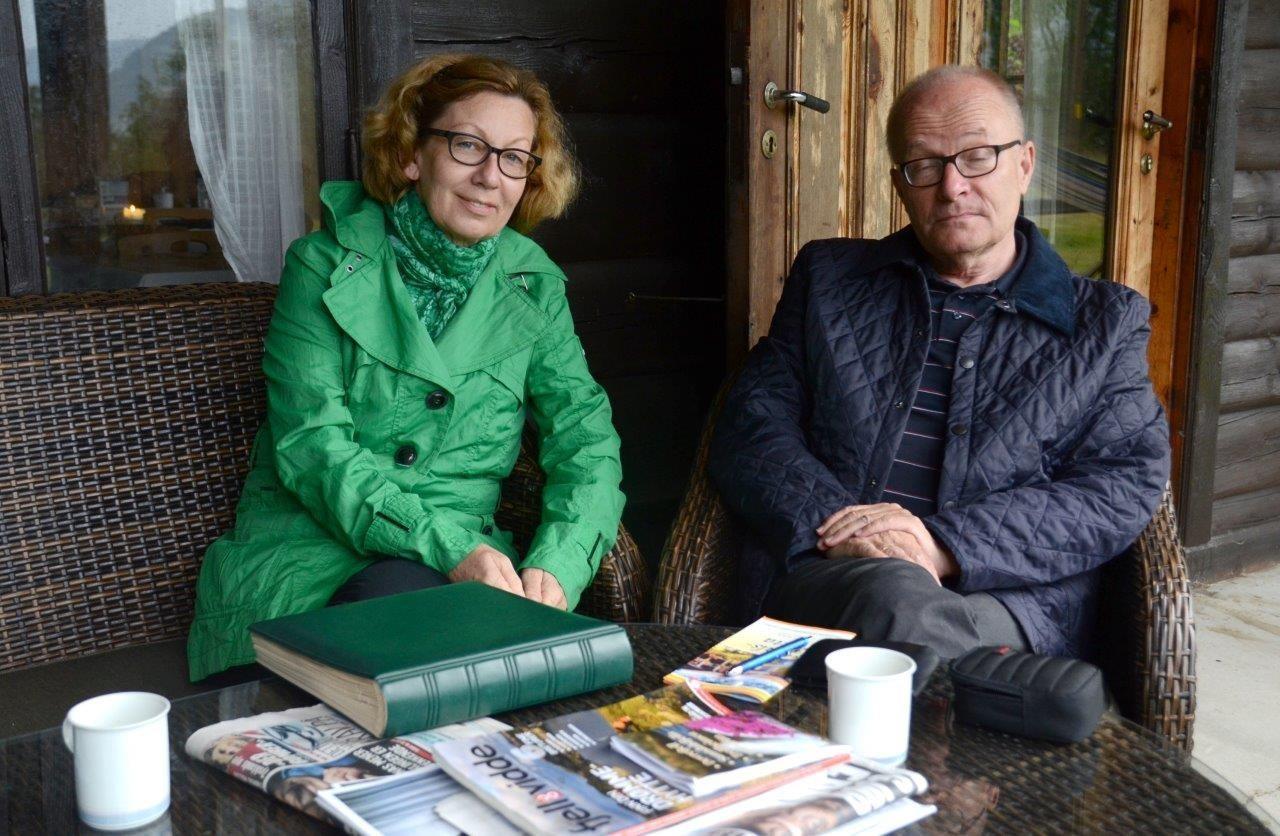 Karin og Reiner Thiemann på Todalshytta.  Foto: Jon Olav Ørsal