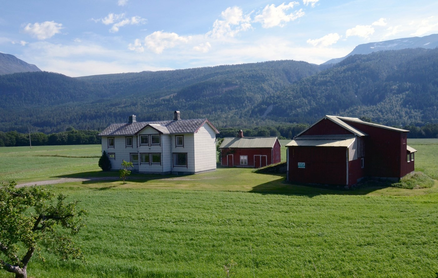 Eigedomen Midtbø er no til sals hos Notar.  Foto: Jon Olav Ørsal