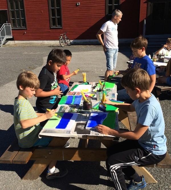 Kunstprosjekt i skulegarden