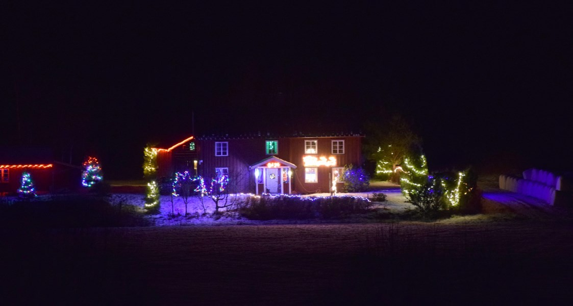 Julelyset er tennt i Heggøyann.  Foto: Jon Olav Ørsal