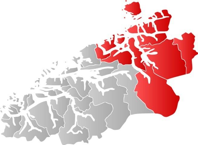 Kart over Nordmøre.  (Frå Wikipedia)
