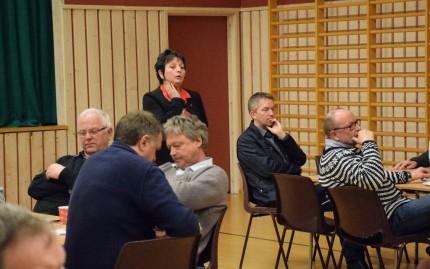 Det var Lilly Gunn Nyheim som leda debatten etterpå.   Foto: Jon Olav Ørsal