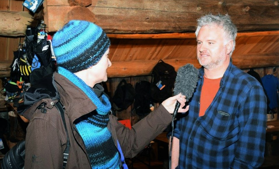 Tove Fugelsnes, NRK og Gudmund Kårvatn.  Foto: Jon Olav Ørsal