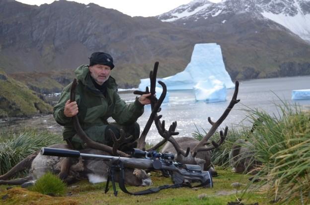 Lars Olav Lund deltok i reinjaktprosjektet på Sør-Georgia i Sørishavet.  Foto: Lars Olav Lund