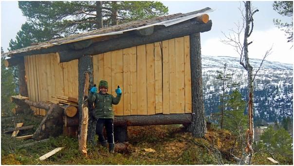 Gapahuken i Liagrenda på Rindalsskogen.  Foto: Arild Haugen