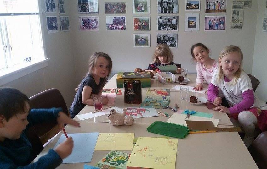 Trygve Aleksander, Lisa, Alexandra, Nicole og Maria. Foto: Justyna Krajewska