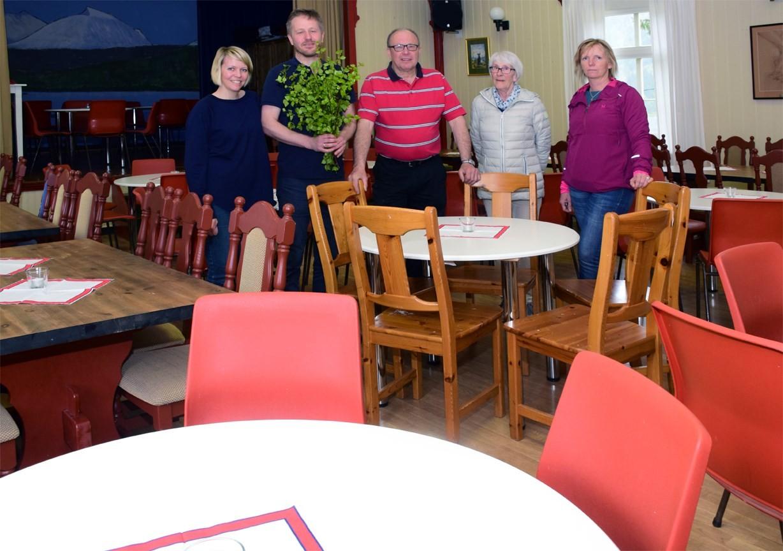 Klart for frukostservering i Ungdomshuset den 17. mai  Foto: Jon Olav Ørsal