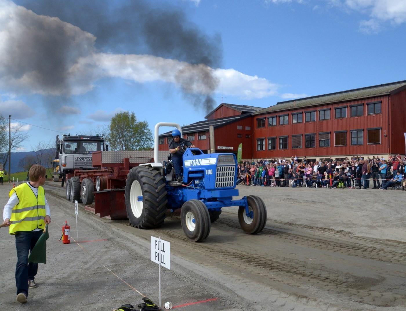Traktorpulling ved stornaustet i fjor.  Foto: Jon Olav Ørsal