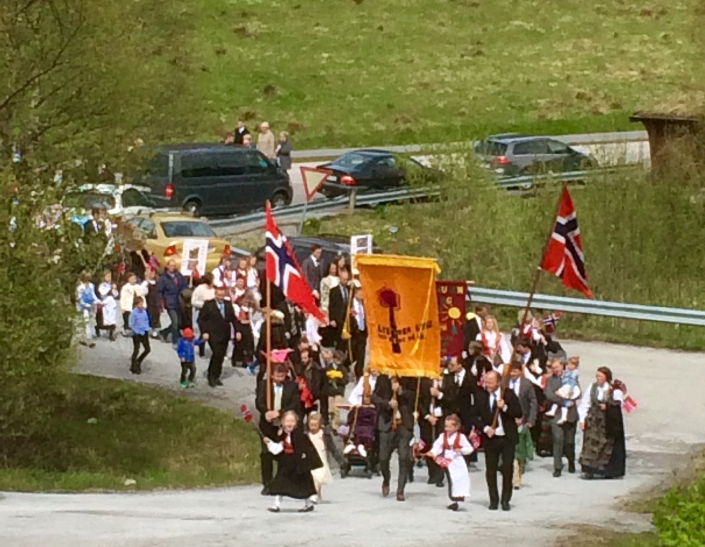 Nasjonaldagfeiring på Stangvik oppvekstsenter