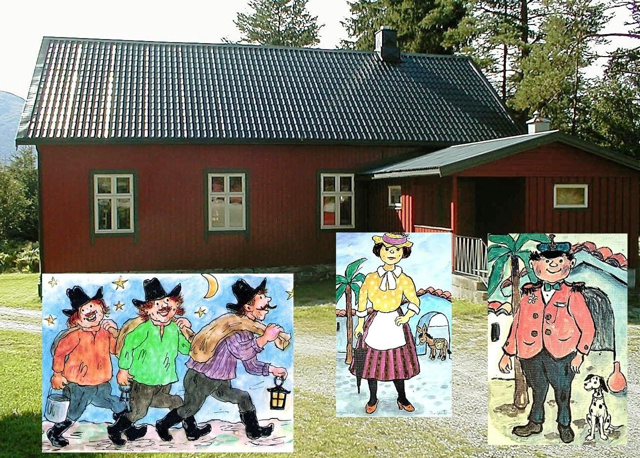 Kardemommefest i Nordvik forsamlingshus. Montasje: Bernt Bøe