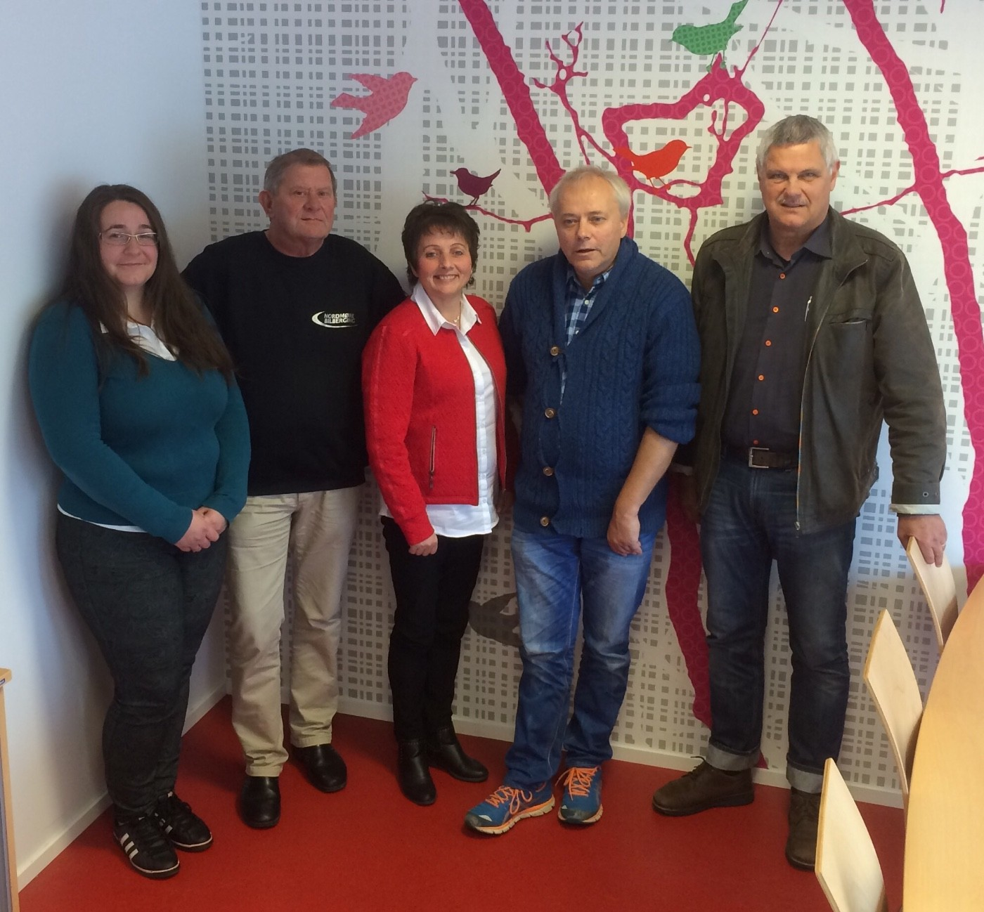 Frå venstre: Joanna Hyldbakk, Reidar Brøske, Lilly Gunn Nyheim, Egil Nedal og Helge Røv