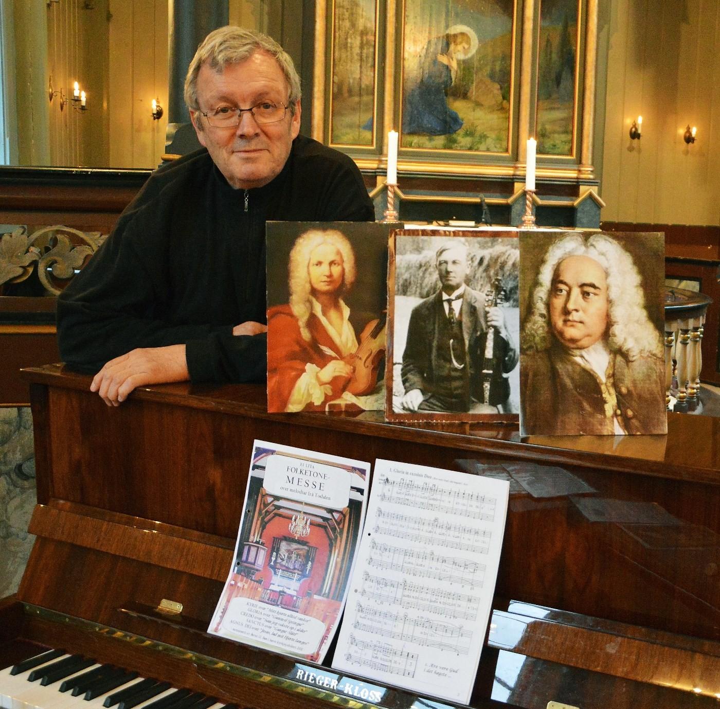 Dirigent for Åsskard kyrkjekor Bernt Bøe.