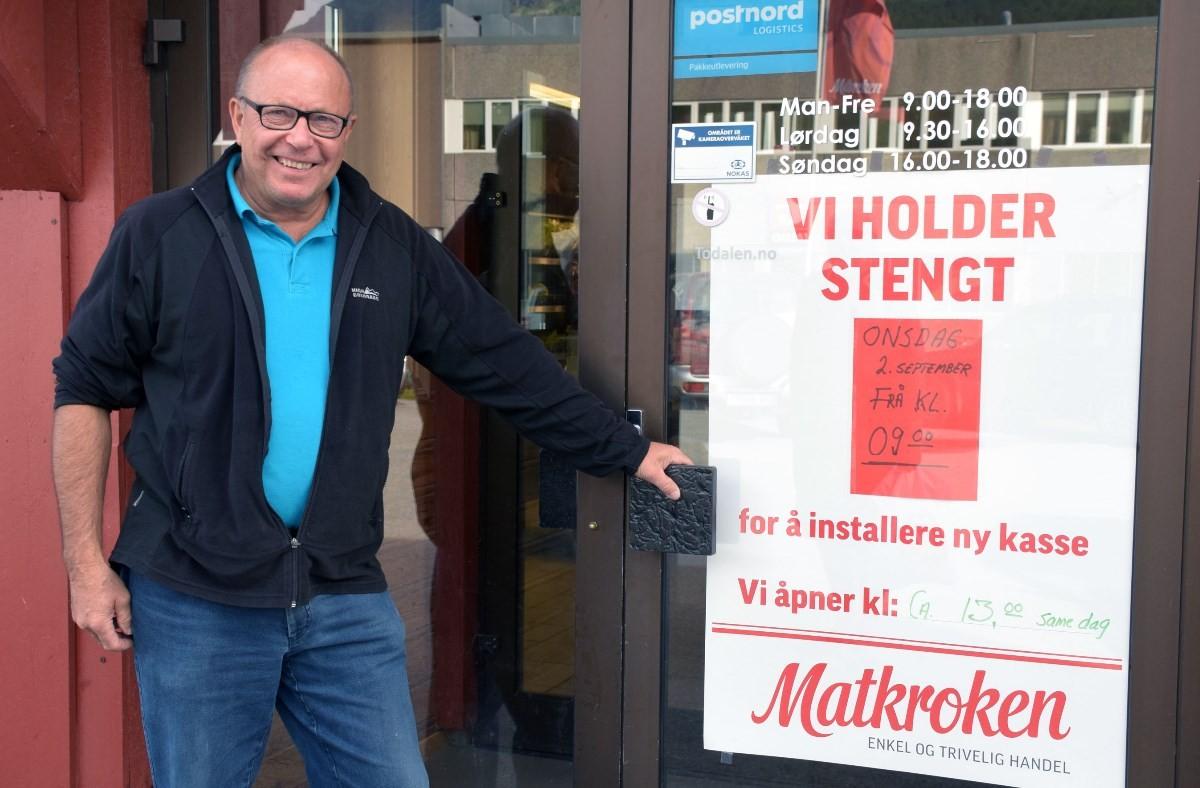 Onsdag blir det stengt fram til ca kl 13 - nytt datasystem blir da installert.   Foto: Jon Olav Ørsal