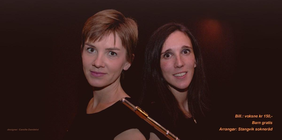 Marie Guillot, fløyte og Magnhild Frydenlund Brøske, piano.