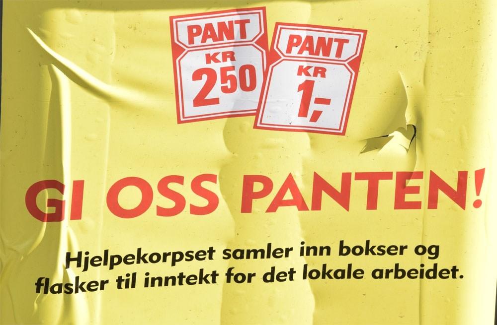Gje panten til Røde Kors.  Foto: Jon Olav Ørsal