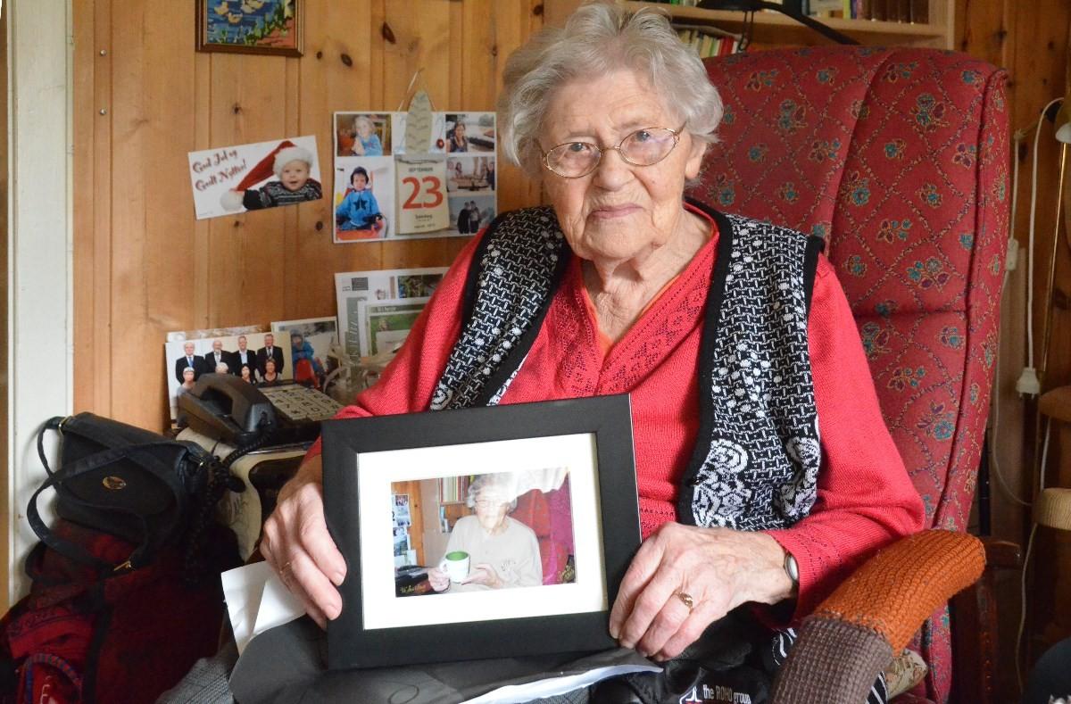 Lisbet Halle da ho feira 97-årsdag i 2012.  Arkivfoto: Jon Olav Ørsal