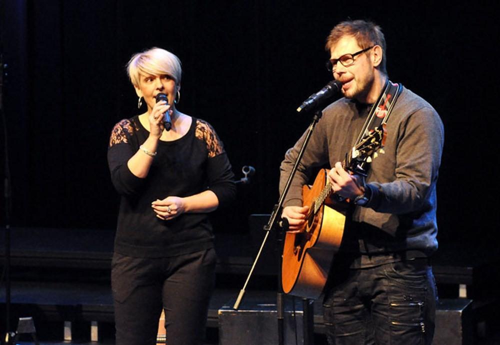 Karstein og Toril er to av aktørane på minikonserten.  Foto: Trollheimsporten