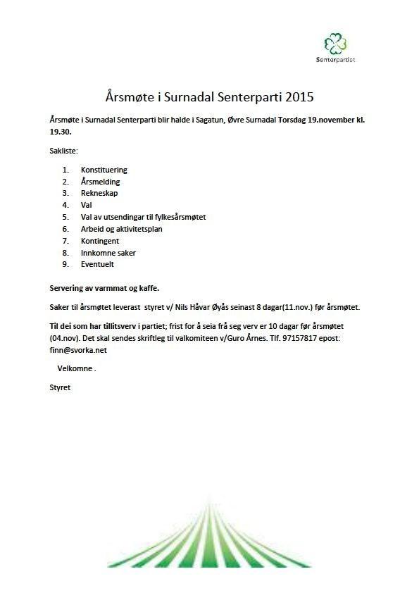Årsmøteinnkalling+Surnadal+SP