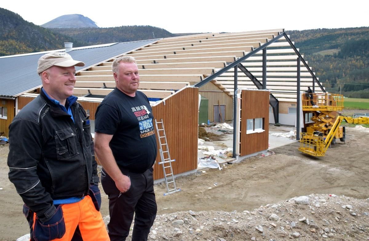 Satsar på mjølk - Anders og Ståle vil etter kvart få rundt hundre mjølkekyr i produksjon. Foto: Jon Olav Ørsal