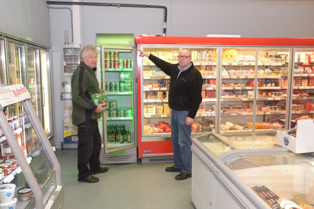 Aggregatet drifter heile butikken - inklusive kjøl- og fryseanlegg.  Foto: Jon Olav Ørsal