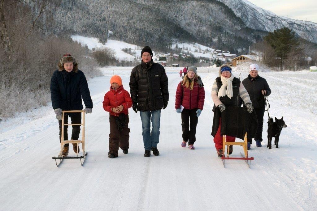 Rundt 180 deltok på romjulsmarsjen 3. juledag 2015.  Arkivfoto: Jon Olav Ørsal