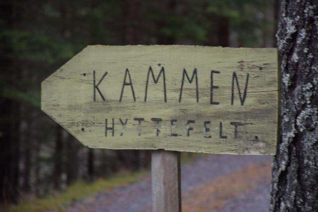Kammen hyttefelt er det første hyttefeltet som er klart - her her utbygginga starta.   Foto: Jon Olav Ørsal