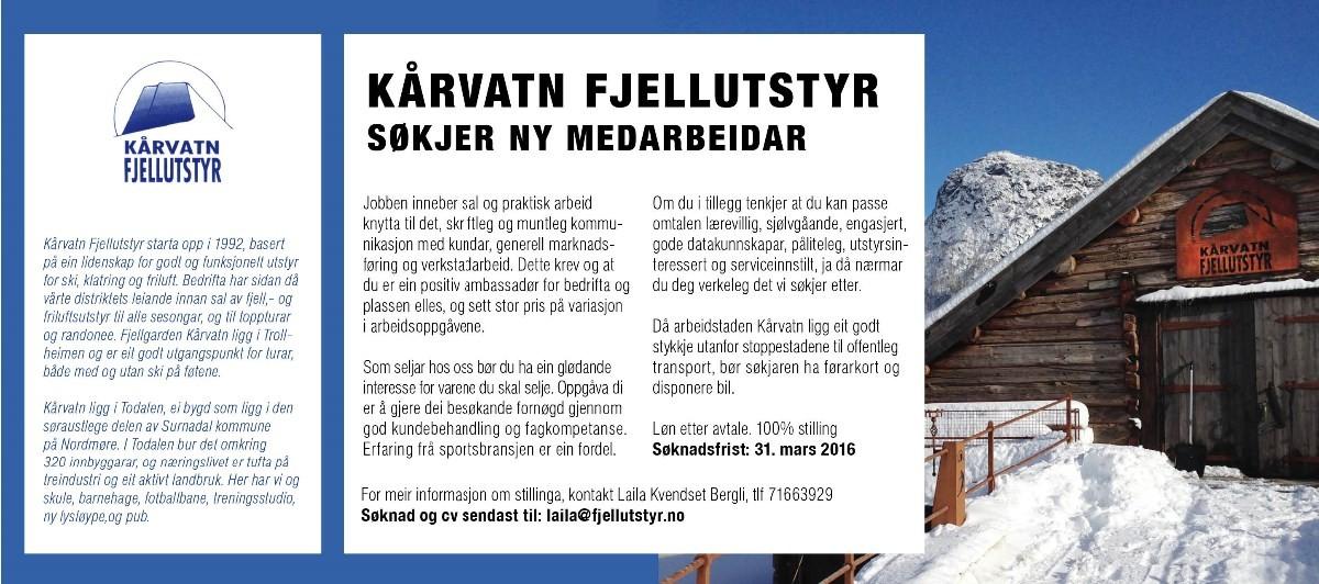Banner Trollheimsporten_kaarvatnfjellutstyr_stilling