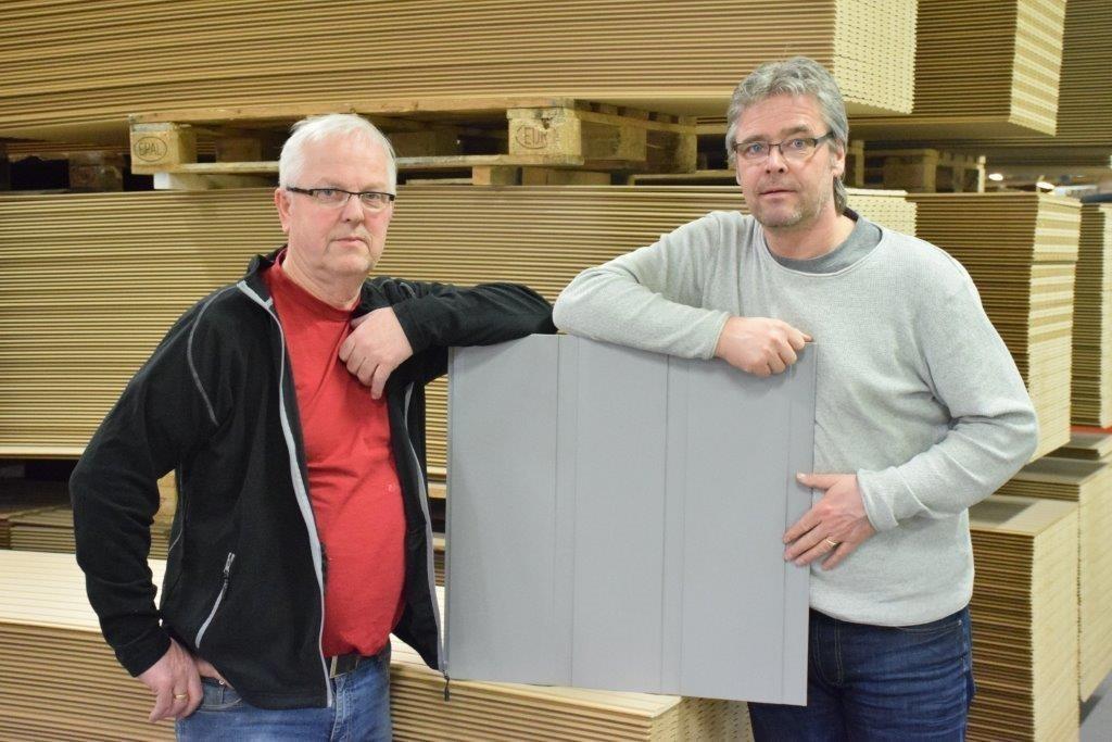 John Moe og Elmer Talgø har vore sentrale i utviklingsarbeidet ved Talgø.  Foto: Jon Olav Ørsal