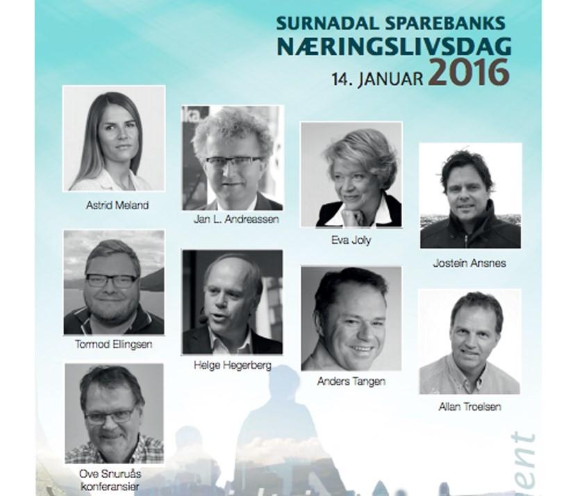 Surnadal Sparebanks næringslivsdag 14. januar 2016.