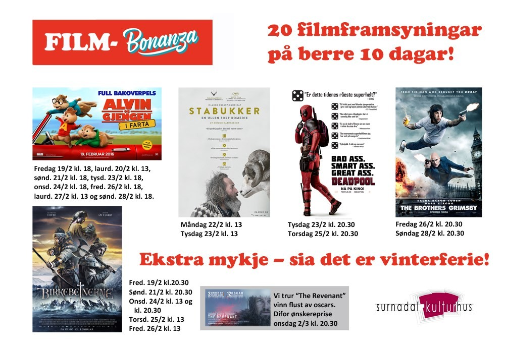 Kulturhuset – Flust med film i vinterferien