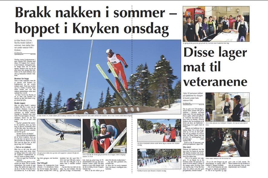 Jo Kåre Torvik tok bronse i Veteran-VM.  (Faksimile frå avisa Sør-Trøndelag på onsdag)