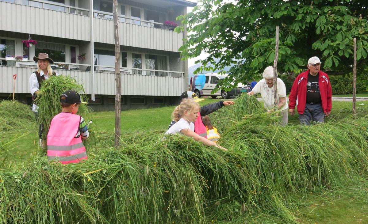 Onnadag 2016 - stor innsats ved hesja. Foto: Dordi J H