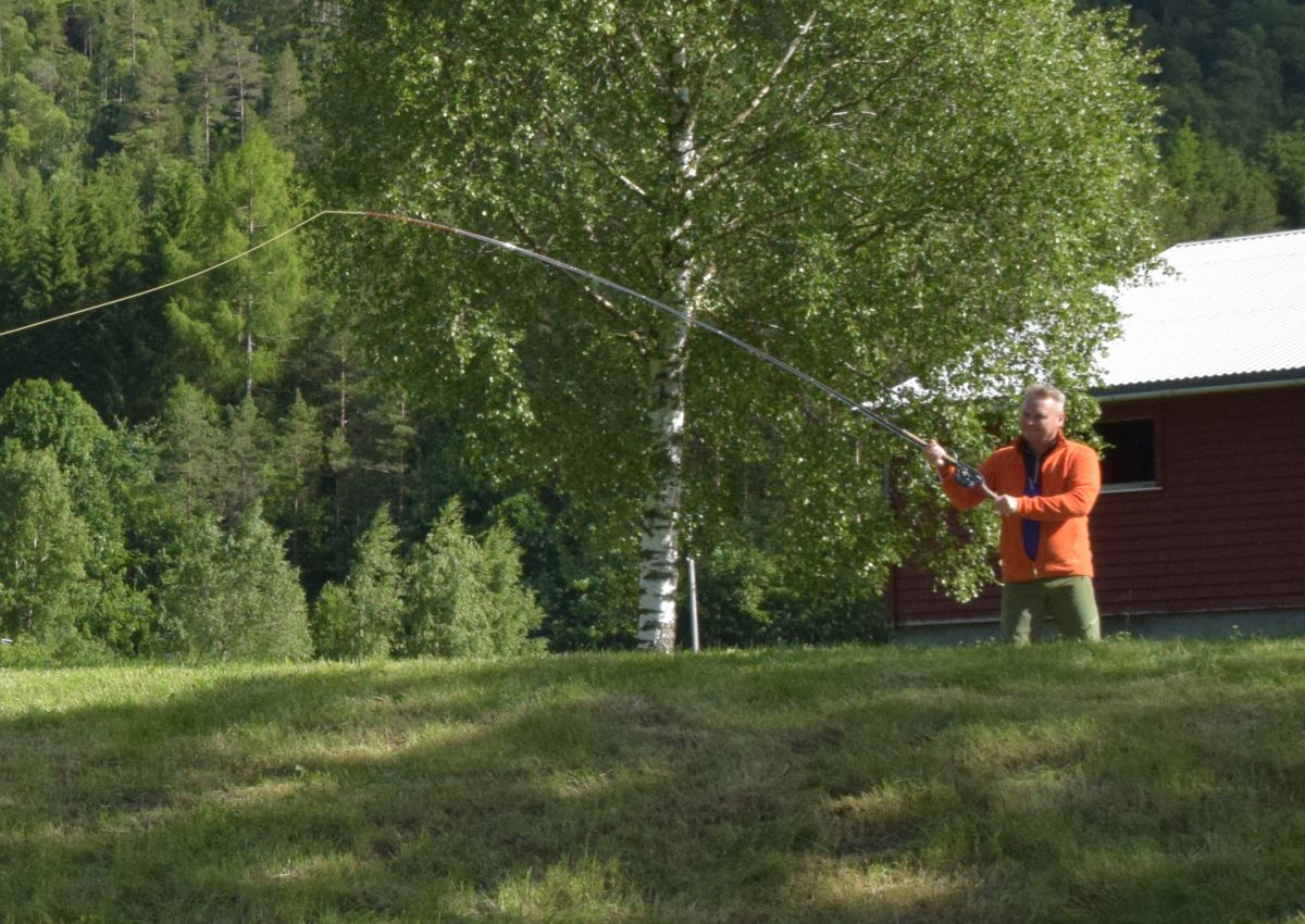 Arve Evensen er instruktør på fluefiskarkurset komande torsdag,  21. juli!  Foto: Jon Olav Ørsal