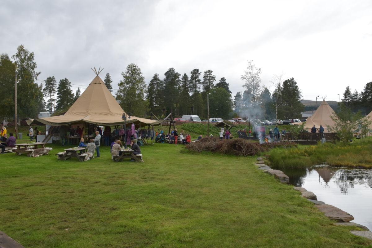 Vandrefestivalen har base ved Igltjønna ved rindal sentrum. Foto: Jon Olav Ørsal