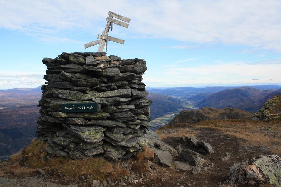 På toppen av Knyken. Foto: Norunn Holten.