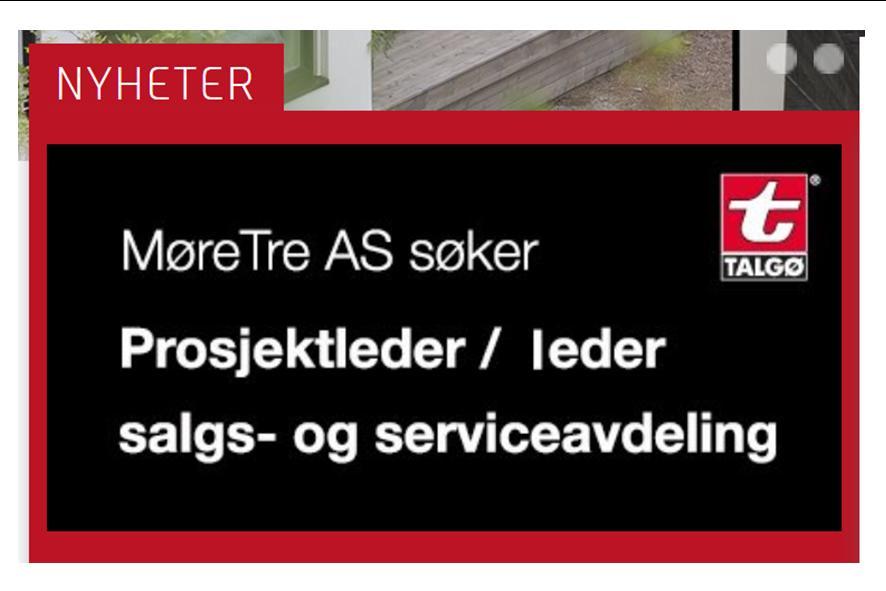Ledig stilling på MøreTre - søknadsfrist 18. november