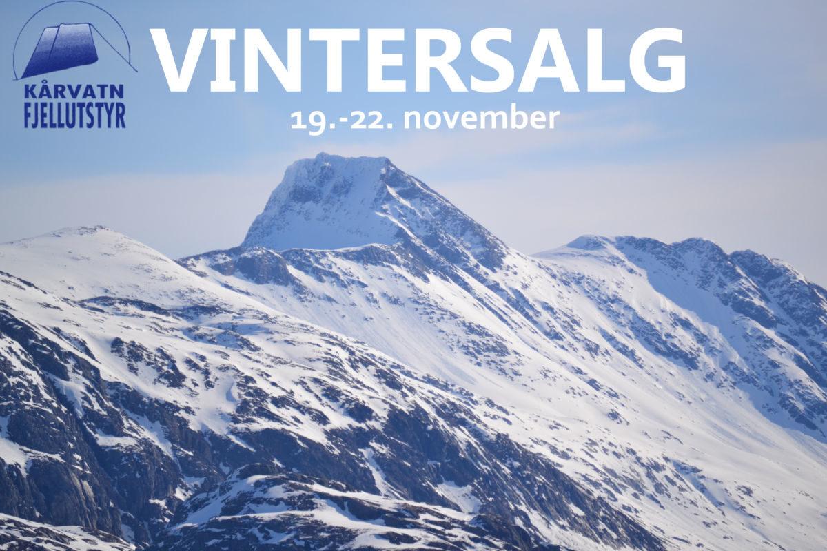 Komande helg er det vintersal ved Kårvatn Fjellutstyr. Foto: KF
