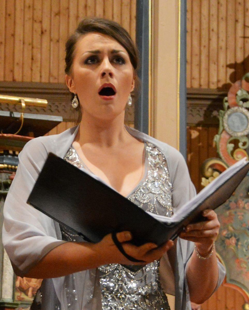 Sigrid V. Bøe er solist.  Foto: Bernt Bøe