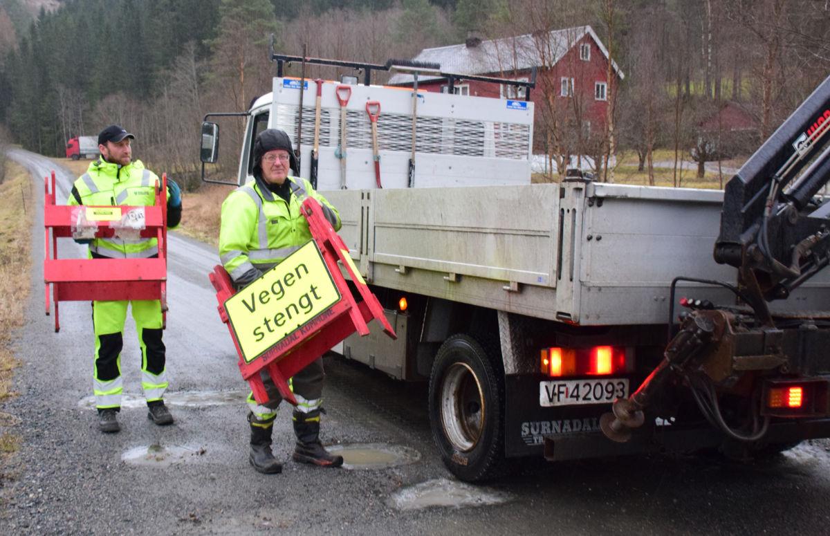 Dalavegen opnar for fri ferdsel i løpet av ettermiddagen.  Foto: Jon Olav Ørsal