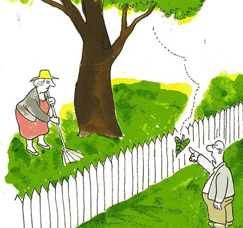 Unngå å lage krangel av bagateller....  Illustrasjon fra Adressa.no