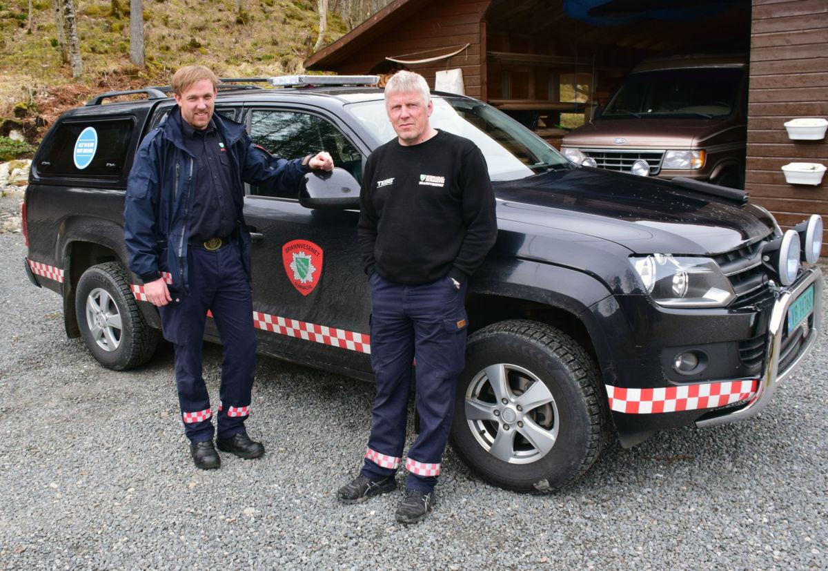 Feiarane Jon Nordvik og Hans Chr. Hårstad er på tilsynsrunde i Todalen.  Foto: Jon Olav Ørsal
