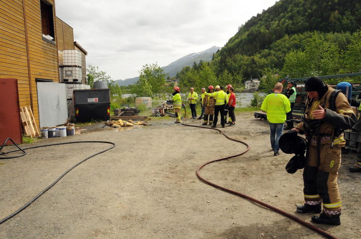 Branntilløpet ved Møretre var raskt under kontroll.   Foto:Driva/Magne Lillegård