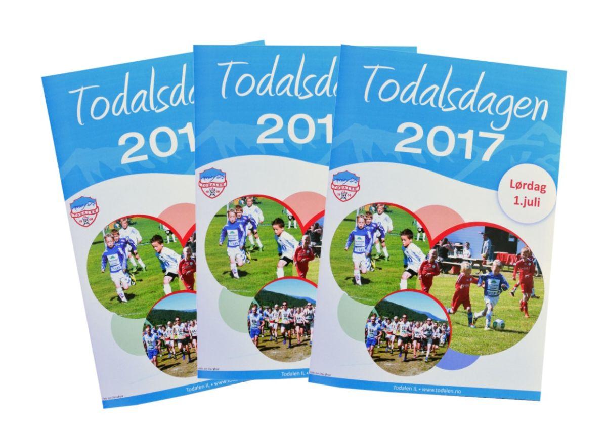 Programheftet for Todalsdagen 2017.