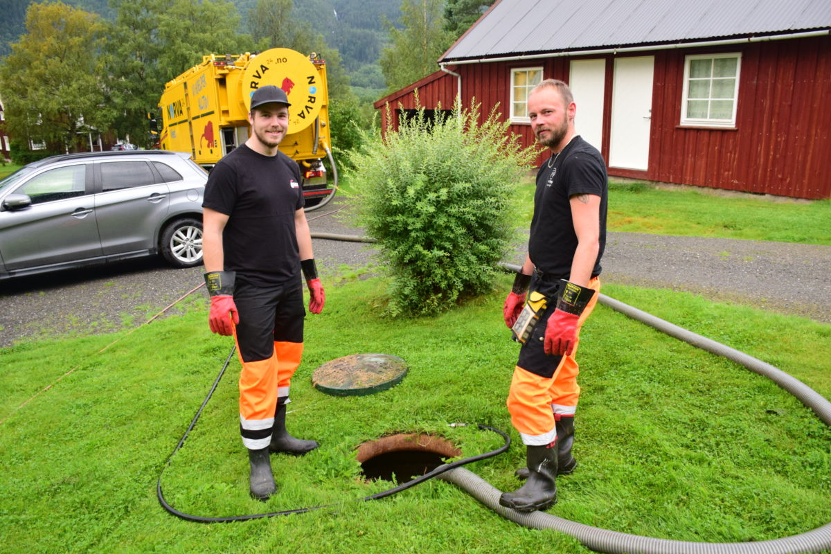 Jørgen Dragesæt og Jan Morten Rønnestad kjem frå Stryn og Vanylven. Norva vest har base i Stryn.  Foto: Jon Olav Ørsal