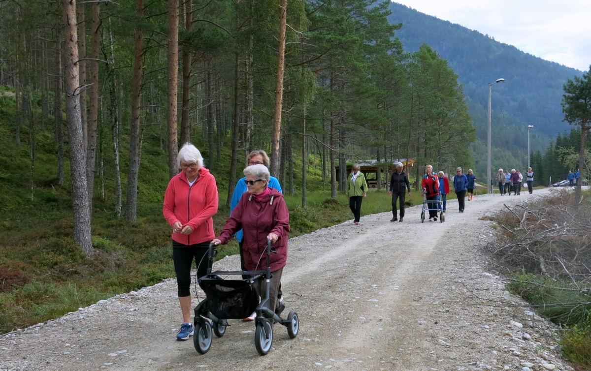 Triveleg med rusletur oppå Tjønnmyrå. Foto: Dordi J H