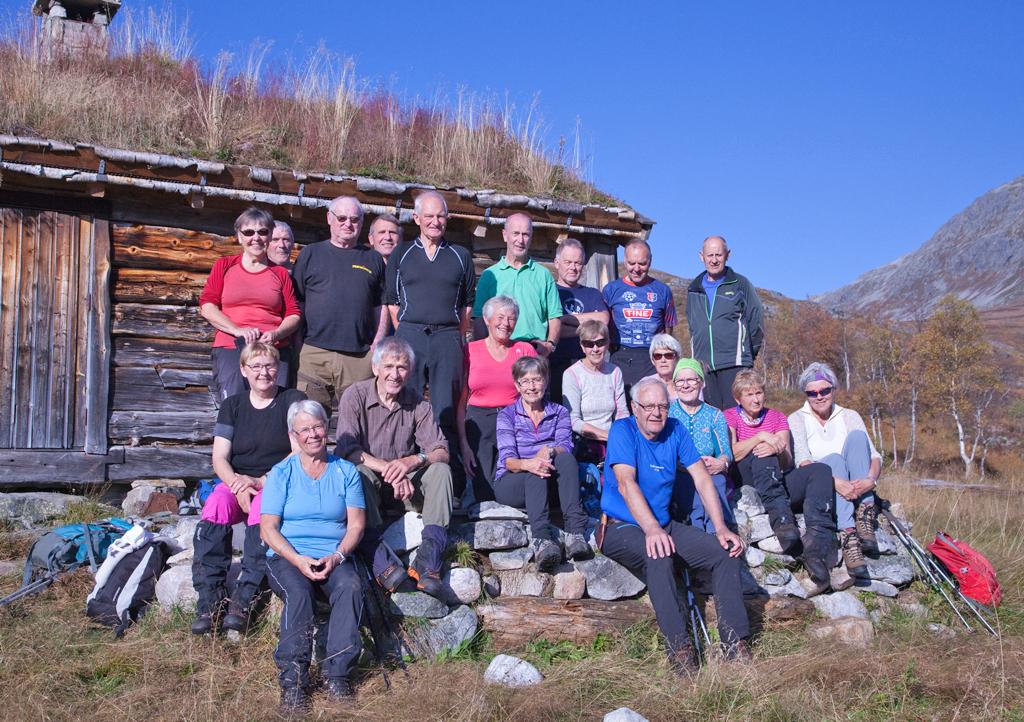 21 deltok på denne turen. En trivelig dag i Todalen. Foto: Harald Egil Folden