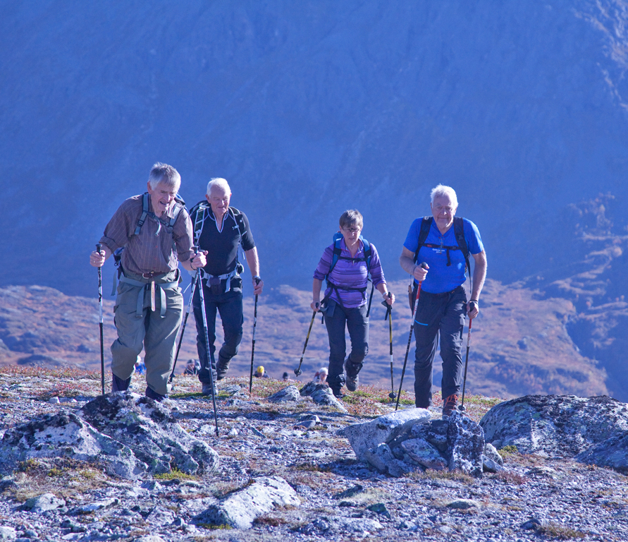 På toppen av Knubban, dvs. toppen på 838 moh.   Foto: Harald Egil Folden